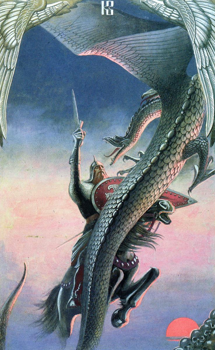 Бой Добрыни со змеем